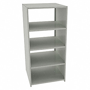 "Starter Boltless Shelving with Steel Decking, 5 Shelves, 36""W x 36""D x 76""H"