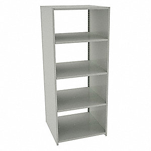 "Starter Boltless Shelving with Steel Decking, 5 Shelves, 36""W x 36""D x 88""H"