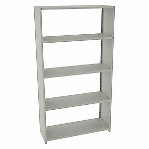 "Starter Boltless Shelving with Steel Decking, 5 Shelves, 48""W x 18""D x 88""H"