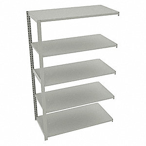 "Boltless Shelving,Add-On,76""H,Light Gray"
