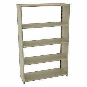 Boltless Shelving Starter,76 in. H,Sand