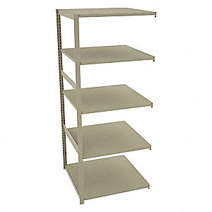 "Add-On Boltless Shelving with Steel Decking, 5 Shelves, 36""W x 36""D x 88""H"