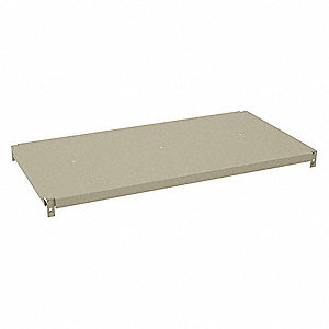 "36"" x 18"" x 1-1/4"" Steel Extra Shelf Level, Sand"