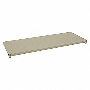 "Steel Shelf, Overall Width: 48"", Overall Depth: 18"", Overall Height: 1-1/4"", Sand"
