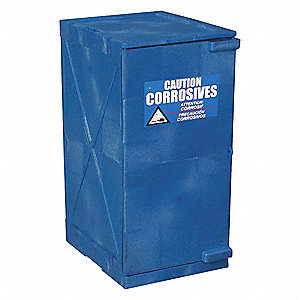 Corrosive Safety Cabinet,18in.W,Blue