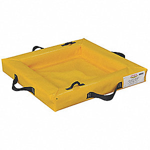 Spill Tray,4 in.H x 24 in.L x 24 in.W