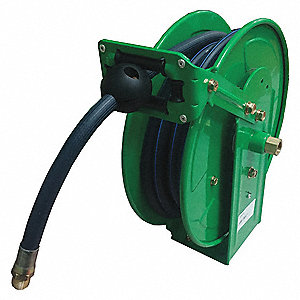 "3/8"", 15 ft. Spring Return Hose Reel, 300 psi Max. Pressure"