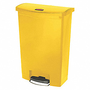 24 gal. Rectangular Yellow Trash Can