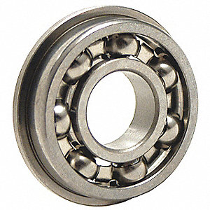 Ball Bearing, 0.1250in Dia, 49 lb, Flanged