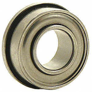 Ball Bearing,0.1250in Dia,40 lb,Flanged