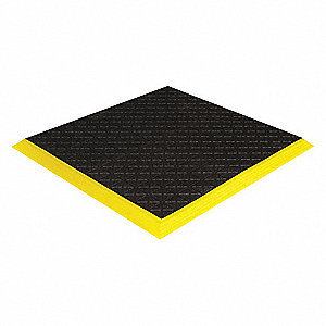 "Interlock Drainage Mat,Blck,3ft3""x6 ft6"""