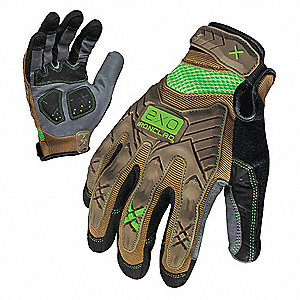 IMPACT MECHANICS GLOVE BROWN/GRAY S PR