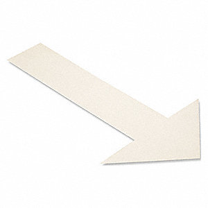 Floor Marking Tape,White,Arrow,PK50
