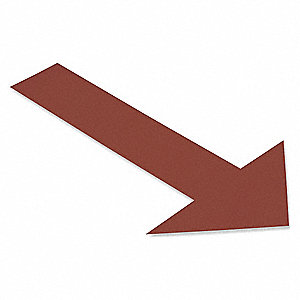 Floor Marking Tape,Brown,Arrow,PK50
