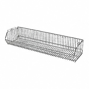 Stacking Basket,9 in. H,Steel