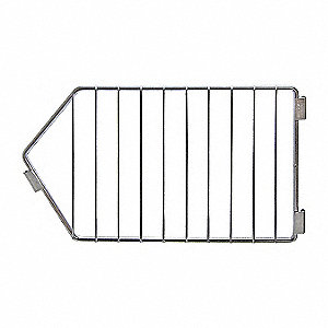 Silver Modular Stacking Basket Divider, Steel, Chrome Plated Finish, 1 EA