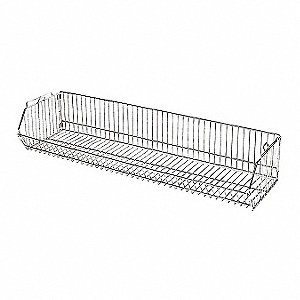 Stacking Basket,9 in. H x 48 in. W,Steel