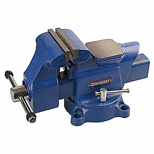 "4"" Ductile Iron Mechanic's Vise, 3-1/2"" Throat Depth"