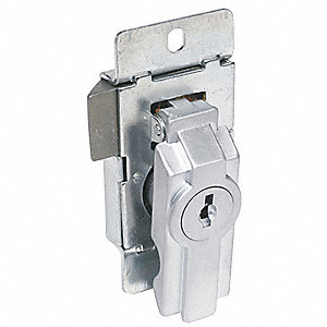 Enclosure Lock,Disc,Dull Chrome