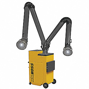Portable Fume Extractor, Series 100 Series, Input Voltage: 110V, Air Flow (CFM): 1200
