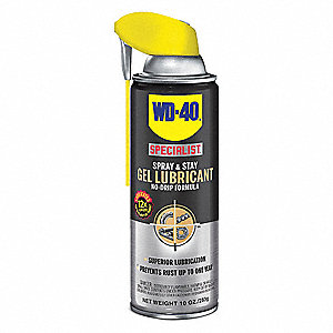 Gel Lubricant, -100°F to 500 Degrees F, No Additives, 10 oz. Aerosol Can