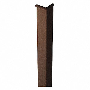 Corner Guard,96in H,Coffee,Velvet