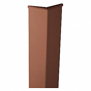 Corner Guard,0.080in Thick,Cherry,Velvet