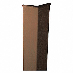Corner Guard,3in W,0.080in Thick,Coffee