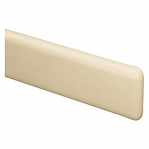 "Biscotti End Cap, Screw In, Molded Plastic, Width 1-3/8"", Height 7-3/4"", Thickness 1"""