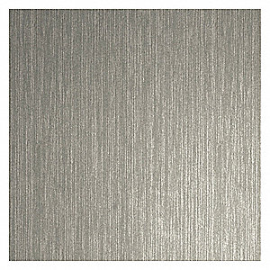 "Rigid Vinyl Sheet, Brushed Nickel, Plastic, 96"" Length, 48"" Height, 1/16"" Thickness"