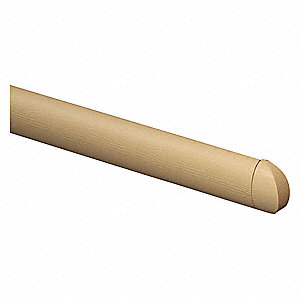 "Beige End Cap, Screw In, Molded Plastic, Width 1-1/16"", Height 2"", Thickness 1"""