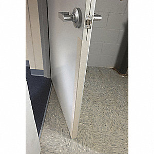 "Door Edge Guard, Velvet, Number of Sides 2, Height 96"", Width 1-5/8"""