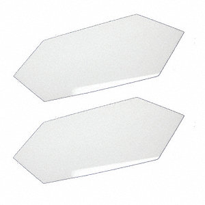 Seam Plates,White Acrylic ,3 in. L,PK2