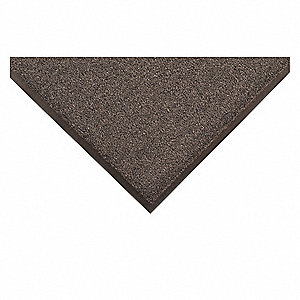 "Indoor Entrance Mat, 8 ft. L, 3 ft. W, 5/16"" Thick, Rectangle, Charcoal"