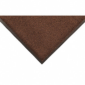 Brown Tufted Yarn Vinyl, Entrance Mat, 3 ft. Width, 12 ft. Length