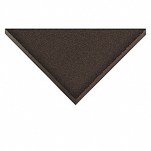 "Indoor Entrance Mat, 10 ft. L, 4 ft. W, 3/8"" Thick, Rectangle, Black"
