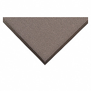 "Indoor Entrance Mat, 8 ft. L, 3 ft. W, 3/8"" Thick, Rectangle, Gray"