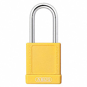"Lockout Padlock,KD,Yellow,1-3/4""H,PK6"
