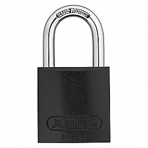 Black Keyed Padlock, Different Key Type, Aluminum Body Material
