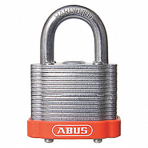 "Different-Keyed Padlock, Open Shackle Type, 2"" Shackle Height, Brown"
