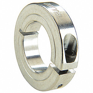 "2024 Aluminum Shaft Collar, Clamp Collar Style, Standard Dimension Type, 1"" Bore Dia."
