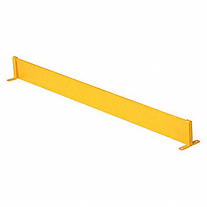 44 5/8 inL Steel Toe Board, Yellow