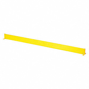80 5/8 inL Steel Toe Board, Yellow