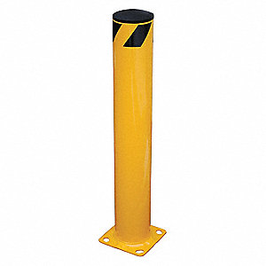 "36"" Fixed Steel Bollard with 5-1/2"" Outside Dia., Yellow"