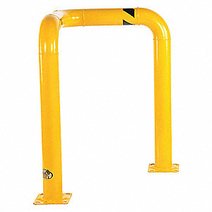 "Yellow Steel Corner Guard, 2 ft. 10"" Overall Length"