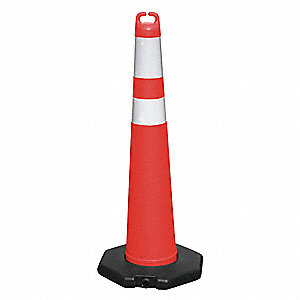 Traffic Cone,Orange,with Reflective Tape