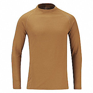 "Men's Crewneck Bodywear Top, Fits Waist Size 42"" to 54"", Coyote, 2XL"