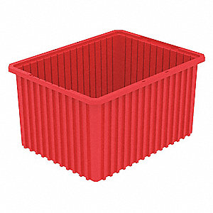 "Divider Box, Red, 12""H x 22-1/2""L x 17-1/2""W, 1EA"