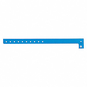 ID Wristband,Light Blue,5/8 in. W,PK500