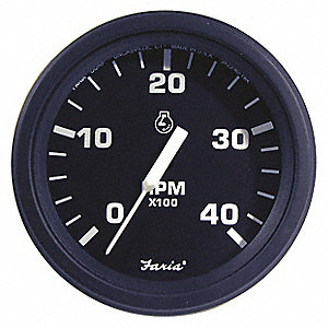 Diesel Engine Tachometer,4 in. Dia.